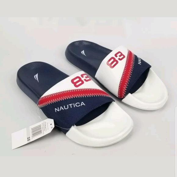 de2b2121b883 Nautica Men s Slide Sandal Slipper Flip Flops 10